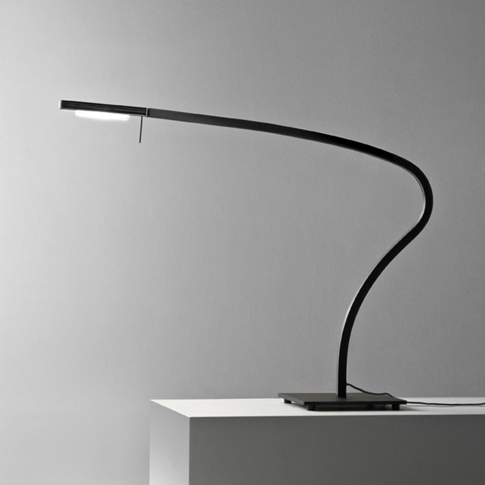 Prandina Paraph T3 LED-Tischlampe dimmbar schwarz