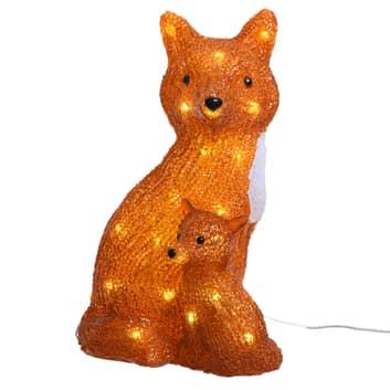 Figurine décorative LED Renards pour l'extérieur