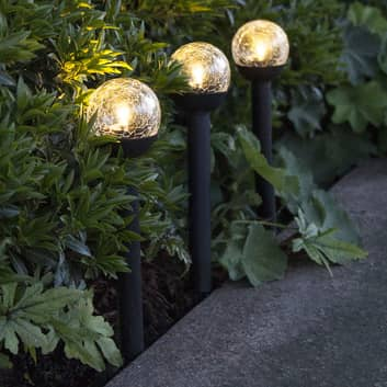 LED-solcellslampa Roma, 3-pack