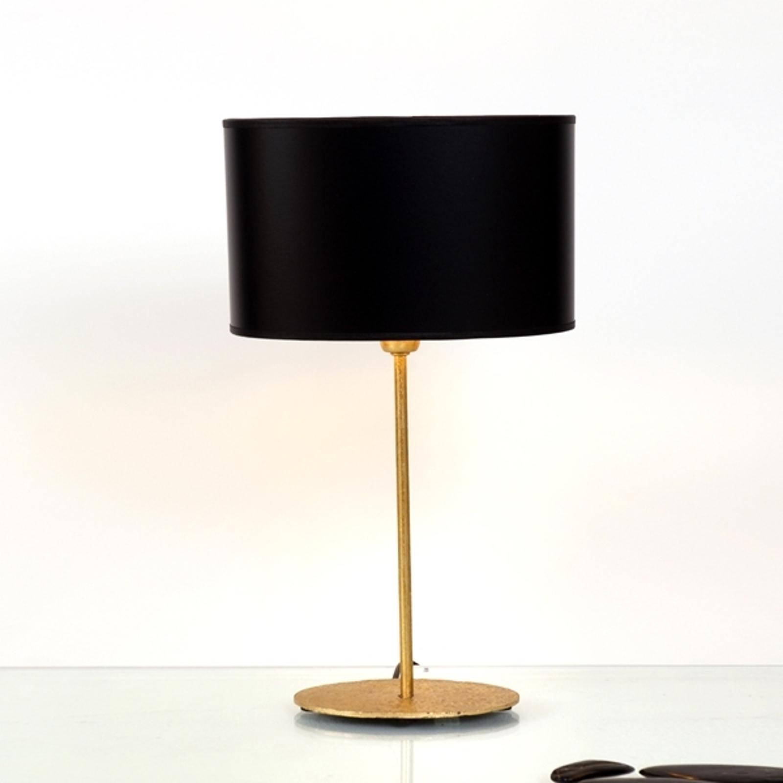 Tischlampe Mattia mit ovalem Schirm in Schwarz