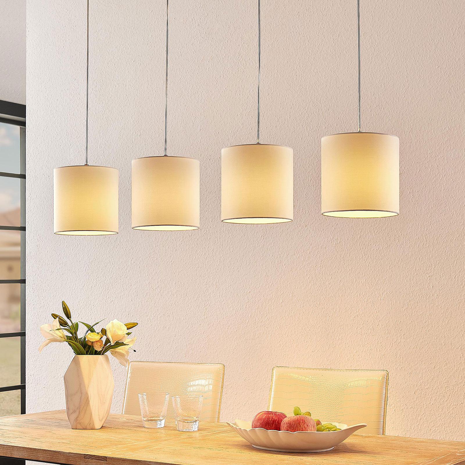 Lindby Zalia textilní závěsné světlo, 4 žárovky