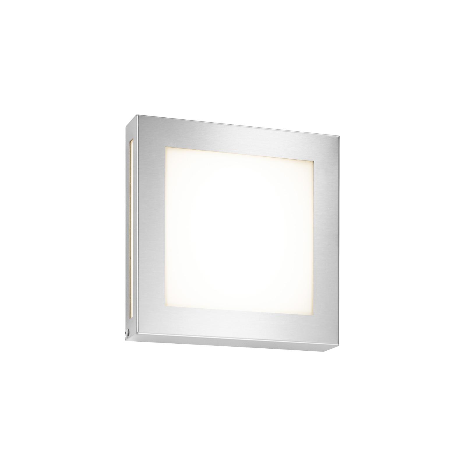 LED-utomhusvägglampa Legendo Mini, rostfritt stål