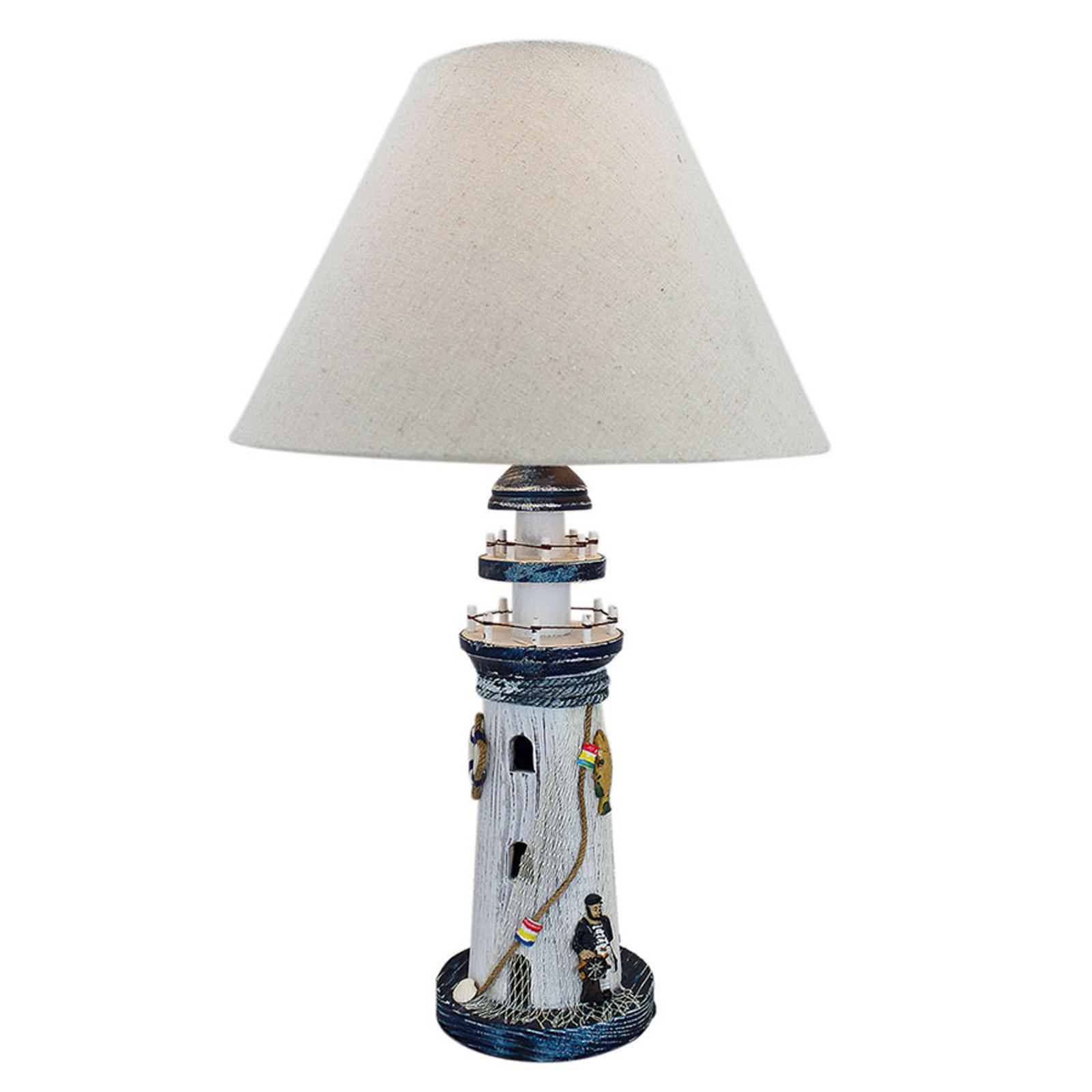 Lampa stołowa 5760 Latarnia z tekstylnym kloszem