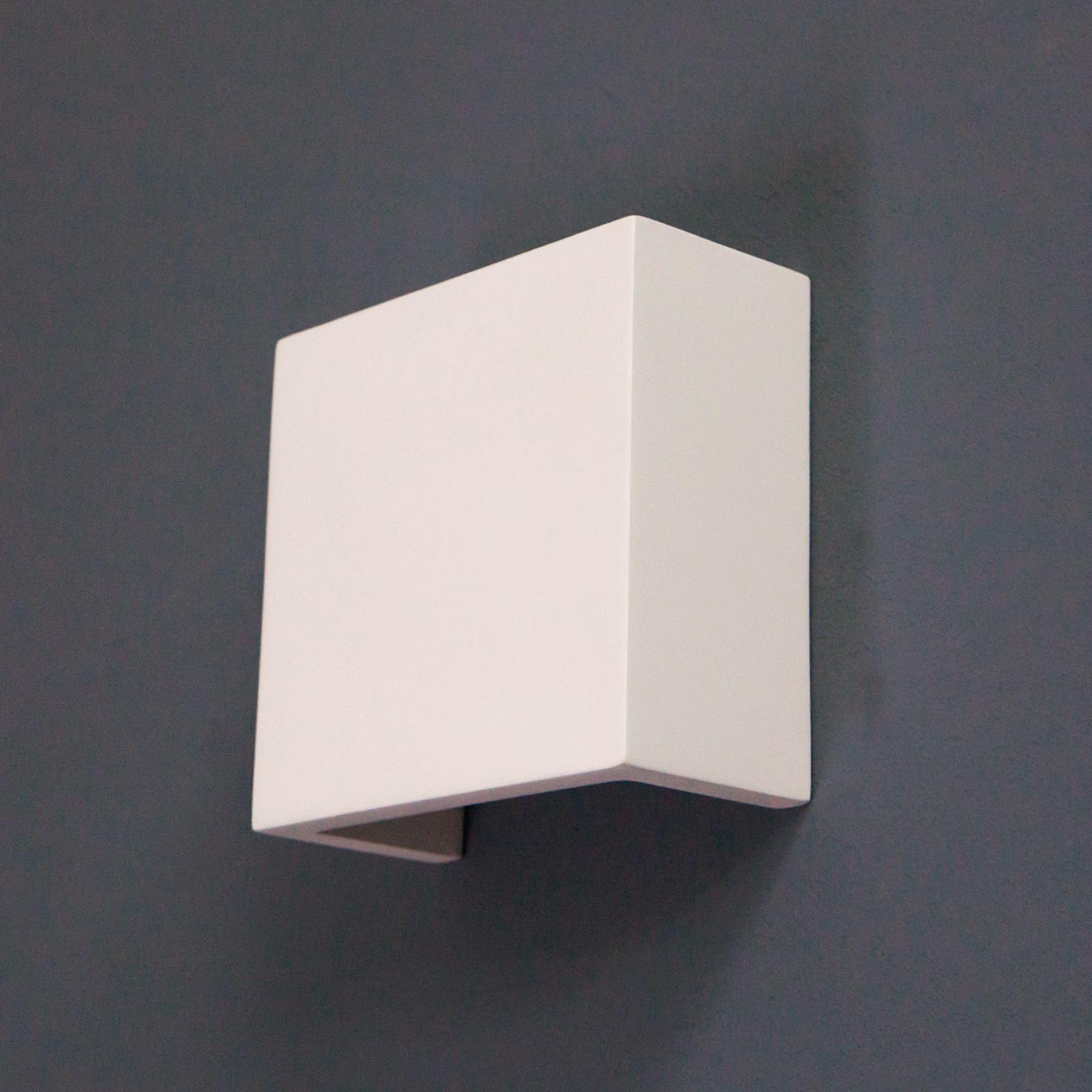 LED wandlamp Fabiola van gips, hoogte 12,5 cm