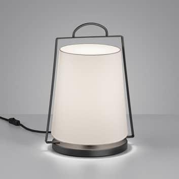 Helestra Uka lampa stołowa z kloszem z tkaniny