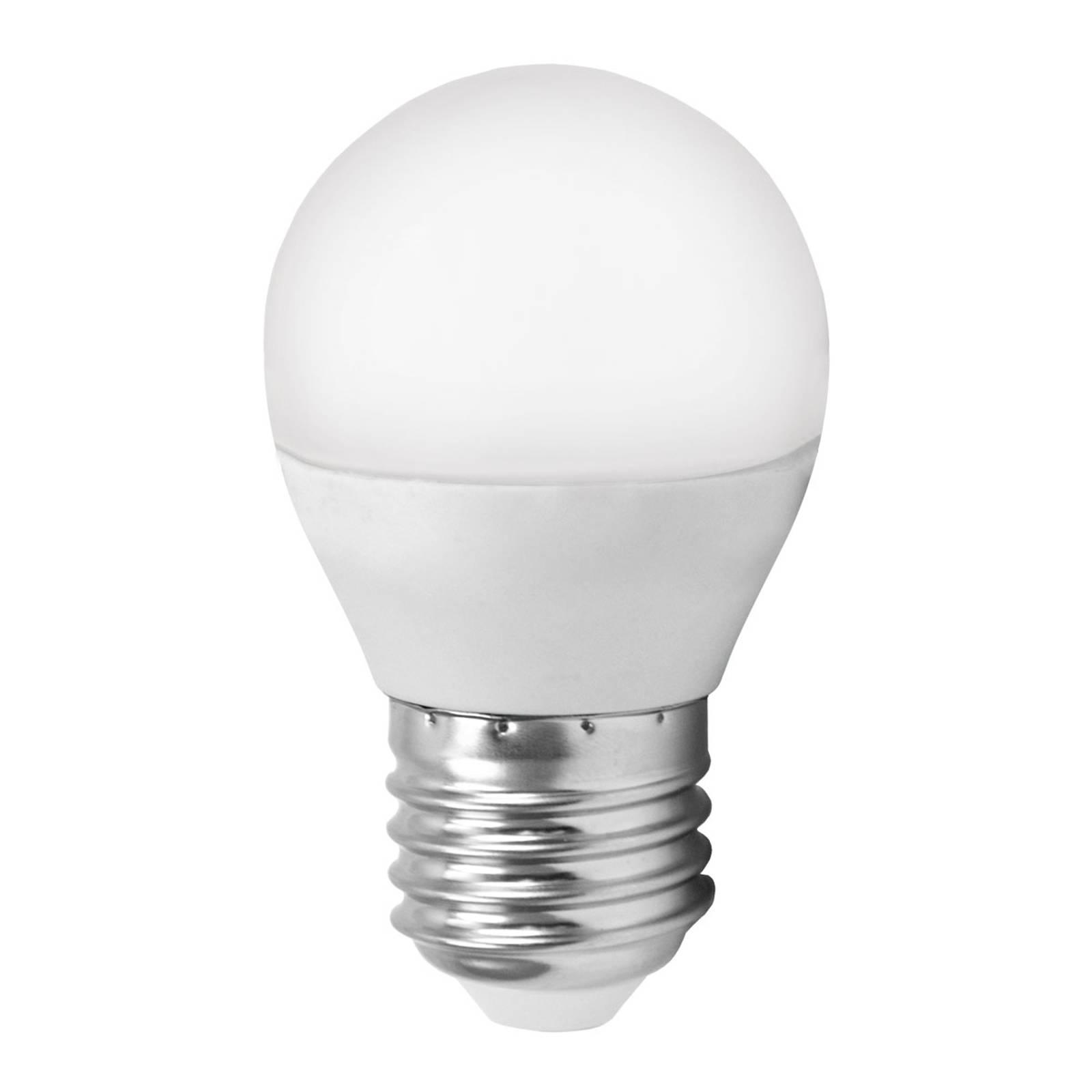 Lampadina LED E27 G45 MiniGlobe, bianco caldo