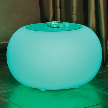 BUBBLE LED Accu Outdoor - bord med glasplade