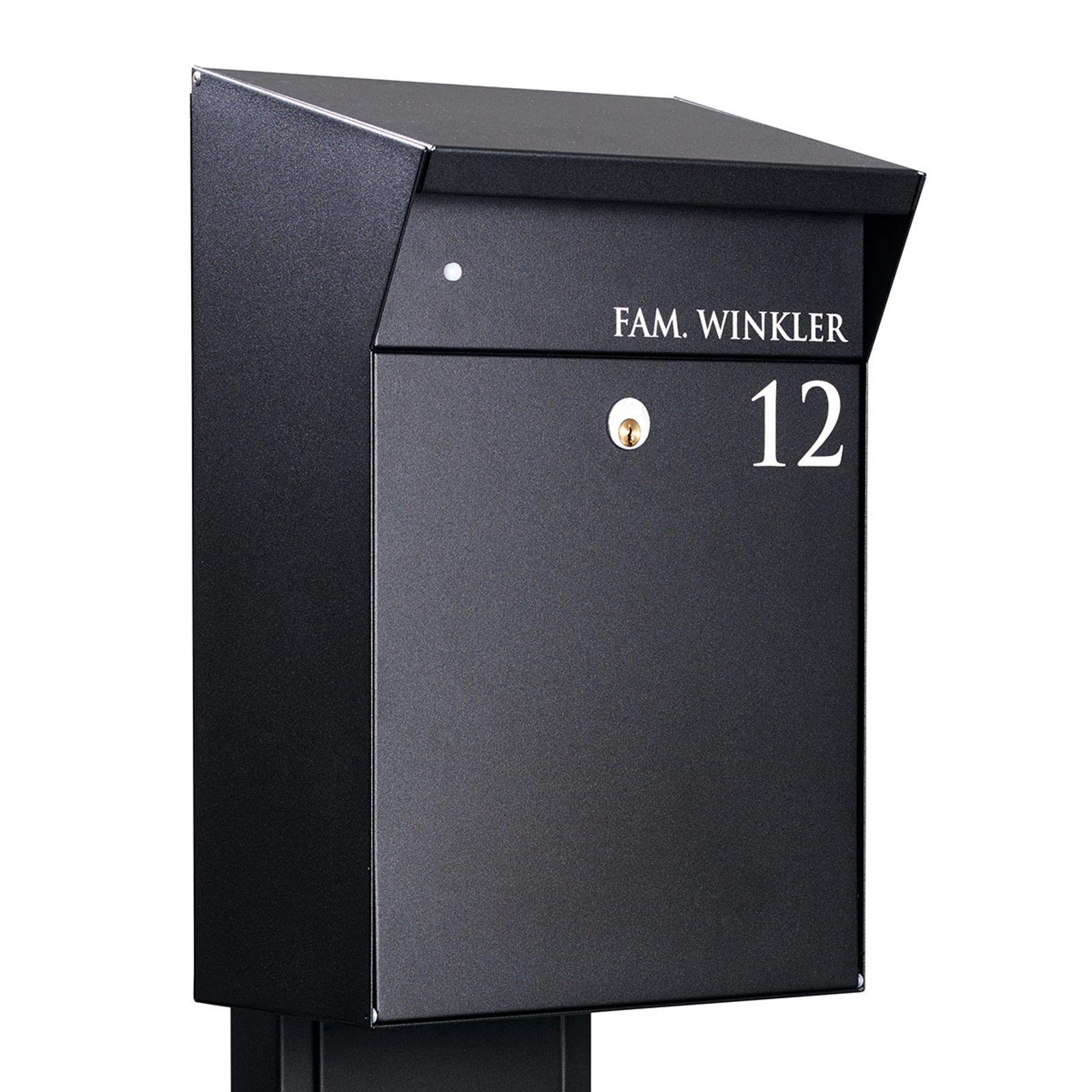 Nástěnná poštovní schránka Björn Villa S černá