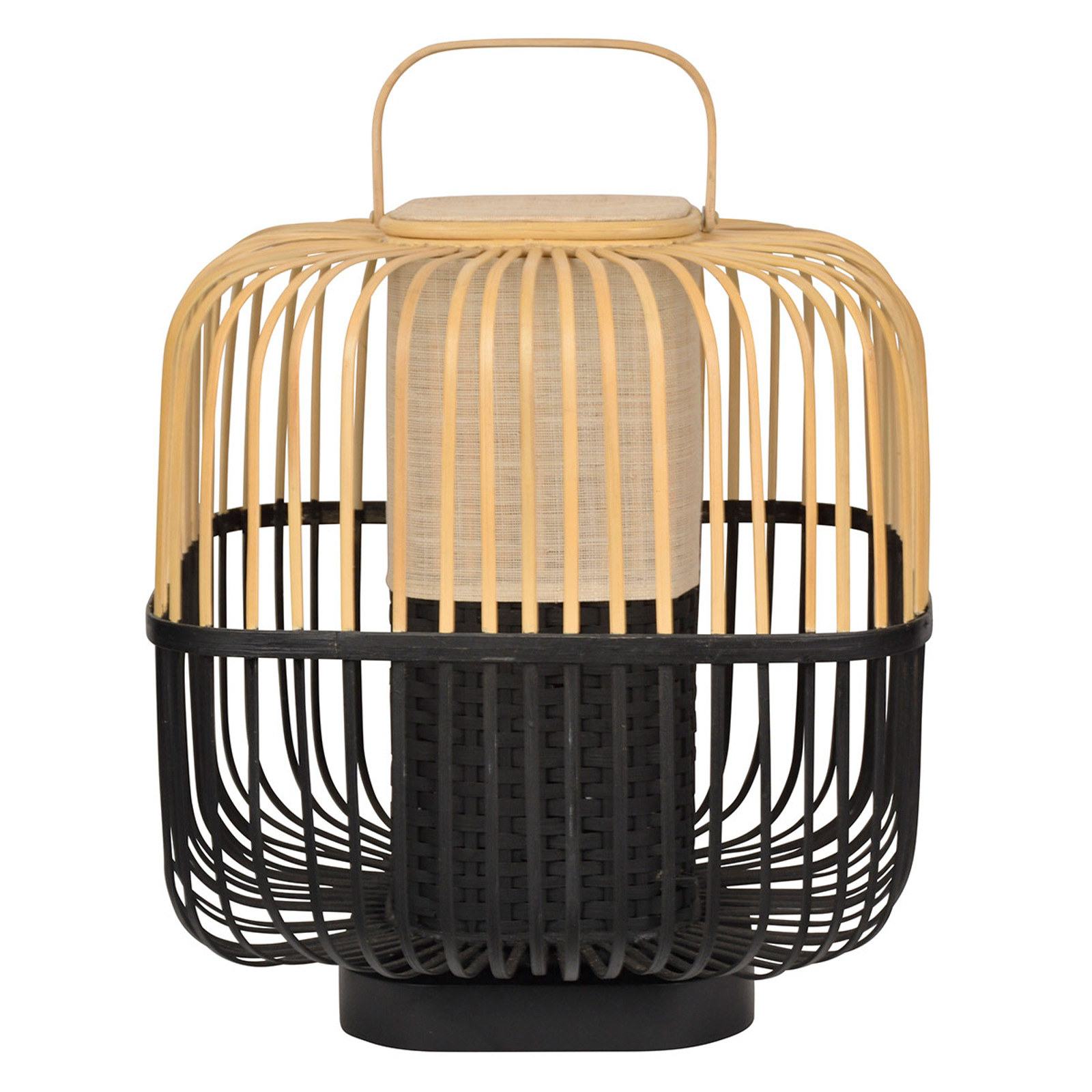 Forestier Bamboo Square M lampe à poser noire