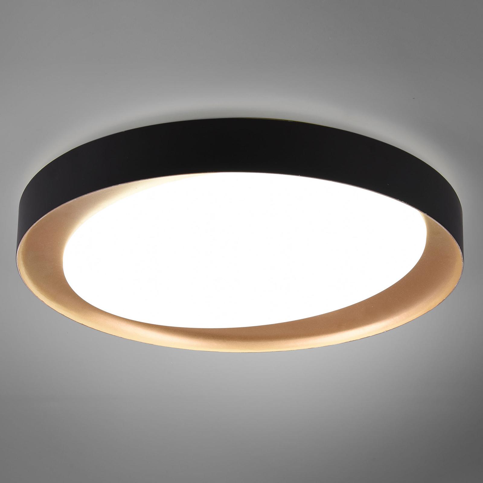 LED-taklampe Zeta tunable white, svart/gull
