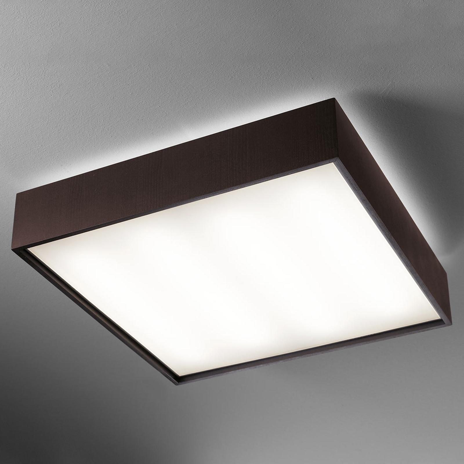 Taklampe Quadrat C med LED 60 x 60, wenge