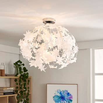 Stropní lampa Maple s listy, 38 cm