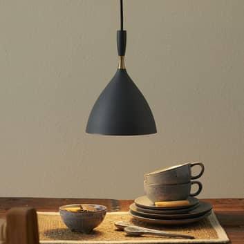 Mørkegrå hængelampe Dokka af stål