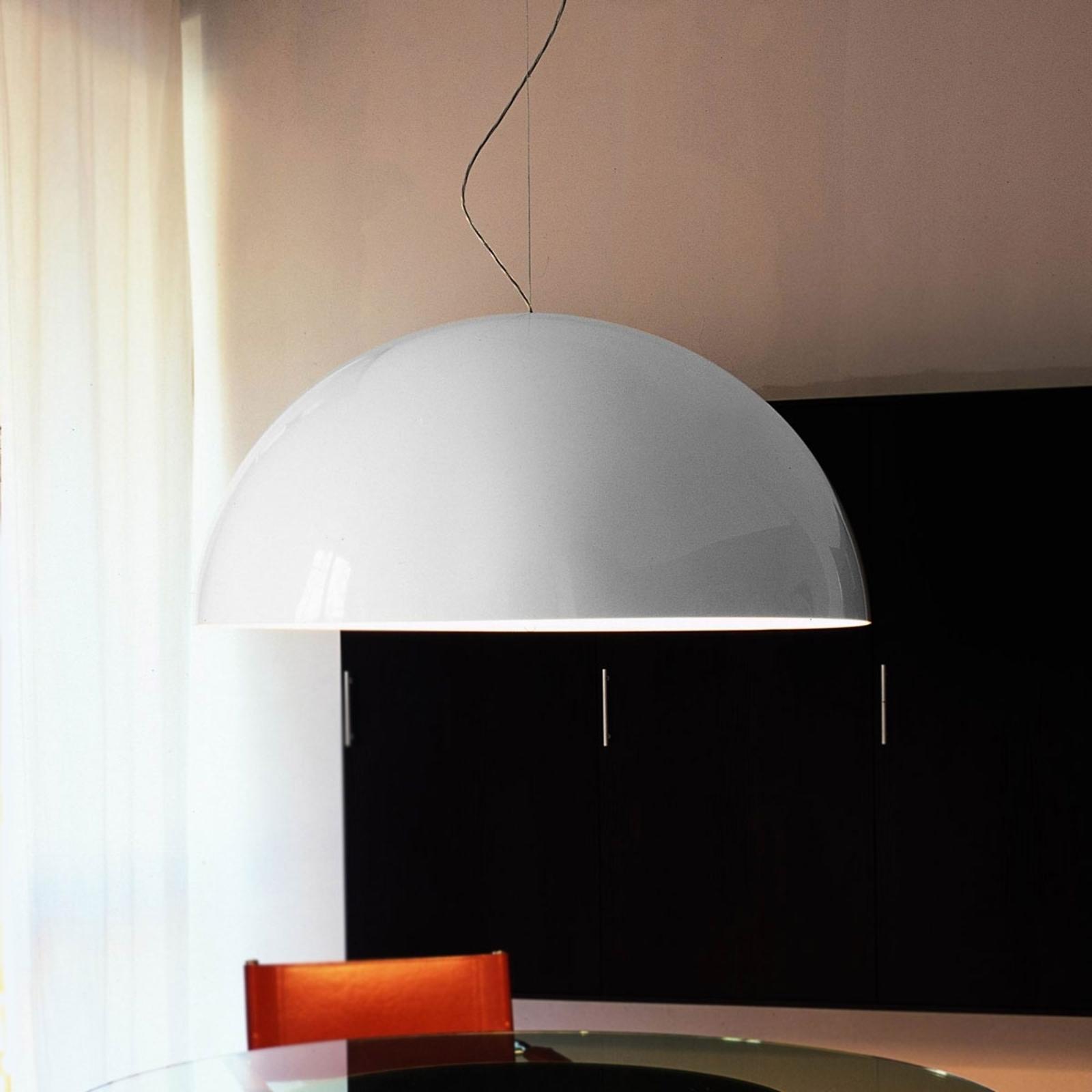 SONORA - biała opalowa lampa wisząca