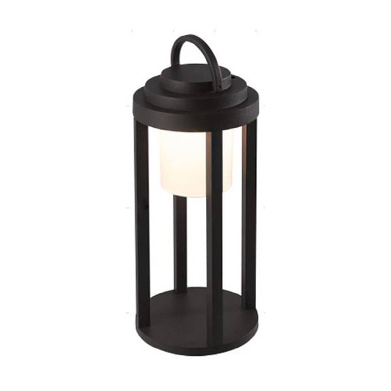 Lampada LED batteria esterni Kalimnos, nero, 35 cm