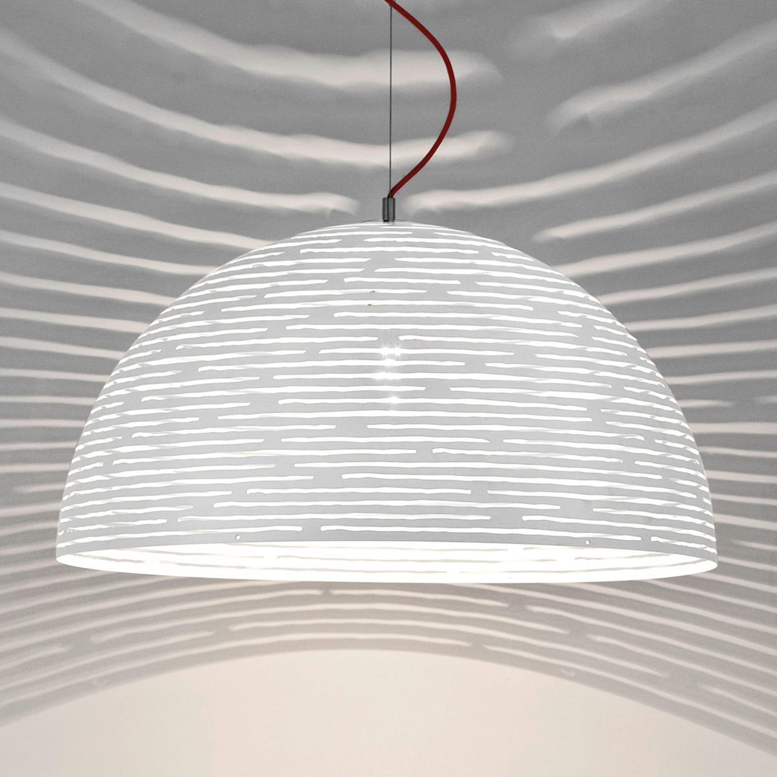 Efektowna lampa wisząca Magdalena biała 50 cm