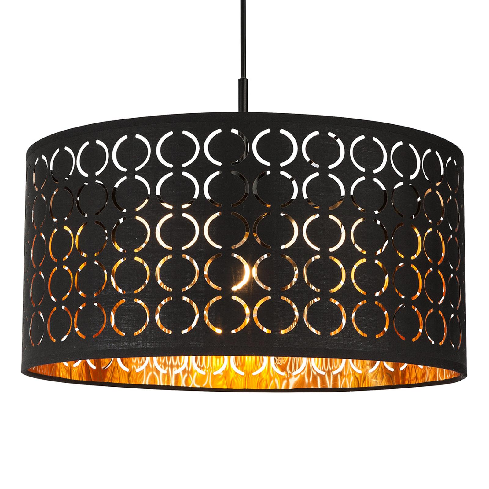Harald hængelampe o orientalsk stil, sort