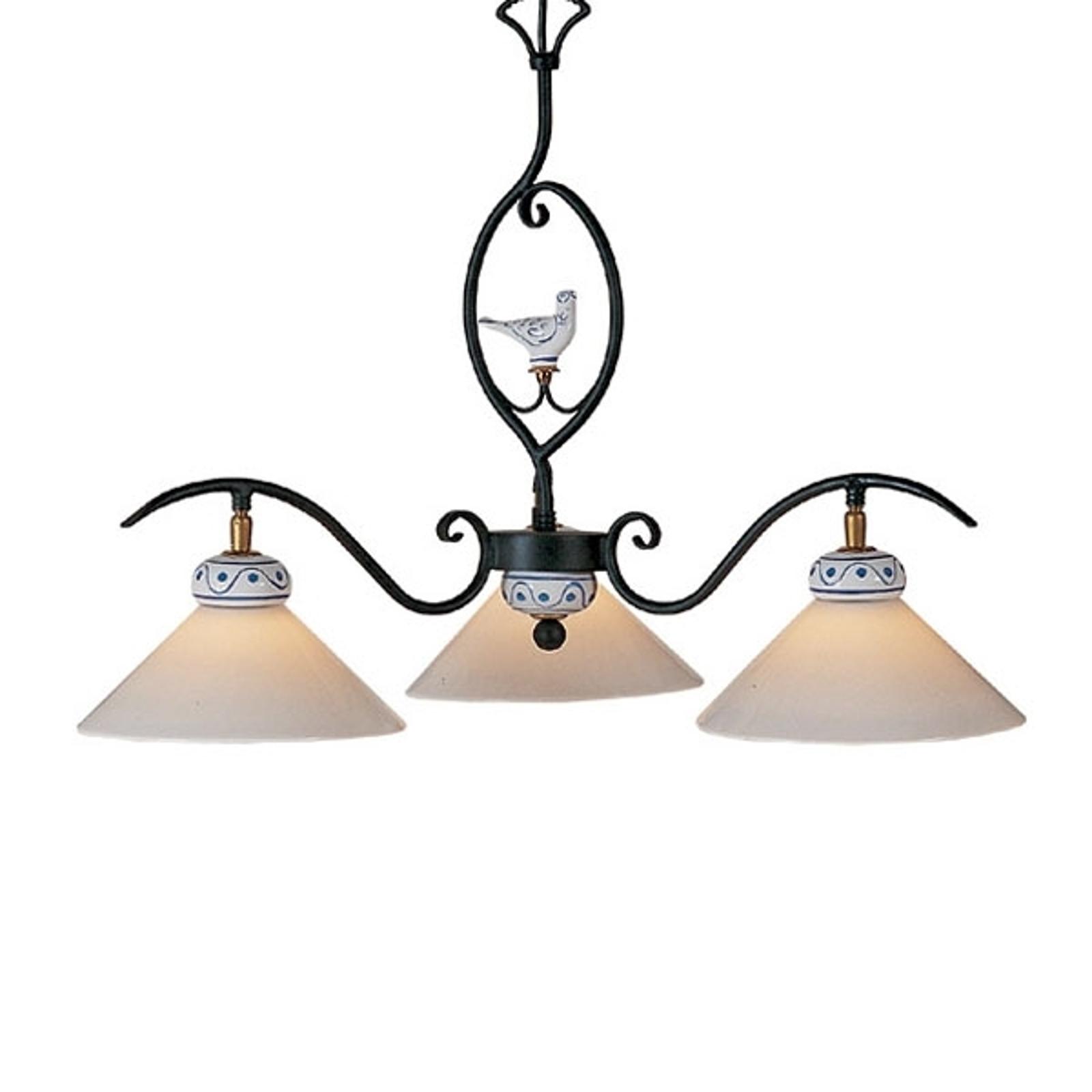 Ravissante suspension PROVENCE CHALET à 3 lampes