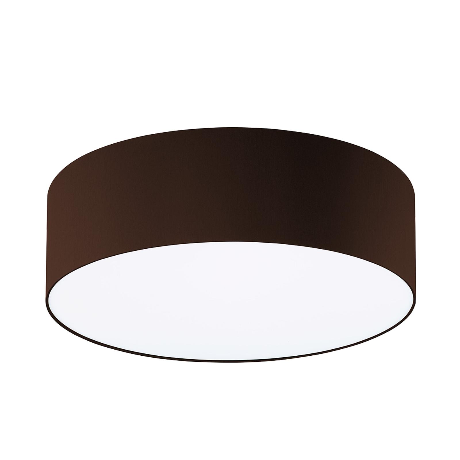 Mokkabruine plafondlamp Mara, 50 cm