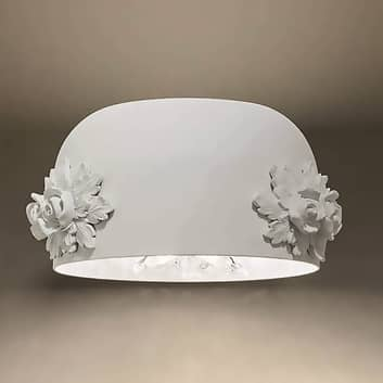 Kinkiet LED Dame biały z kryształowym dyfuzorem