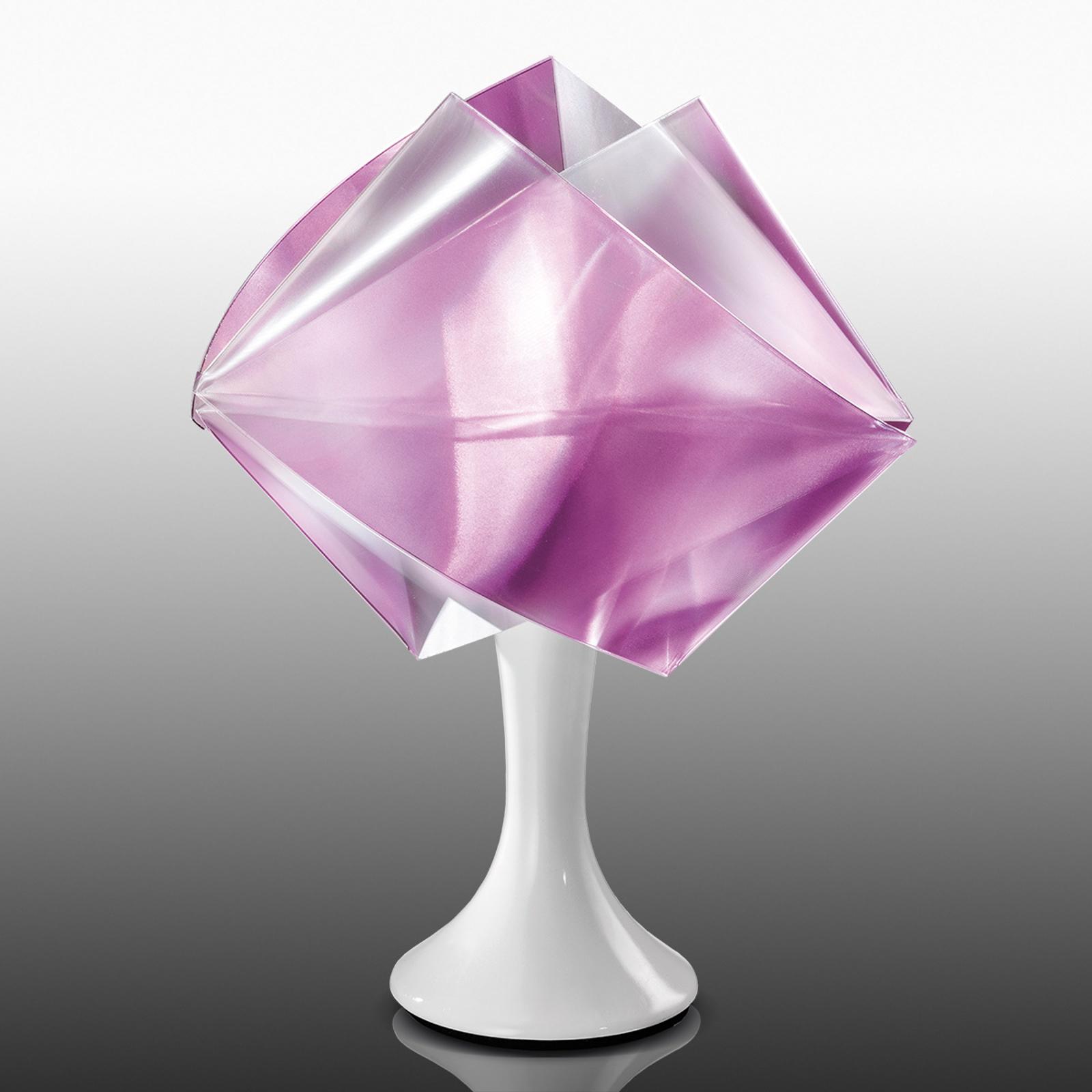 Violett designerbordlampe Gemmy Prisma