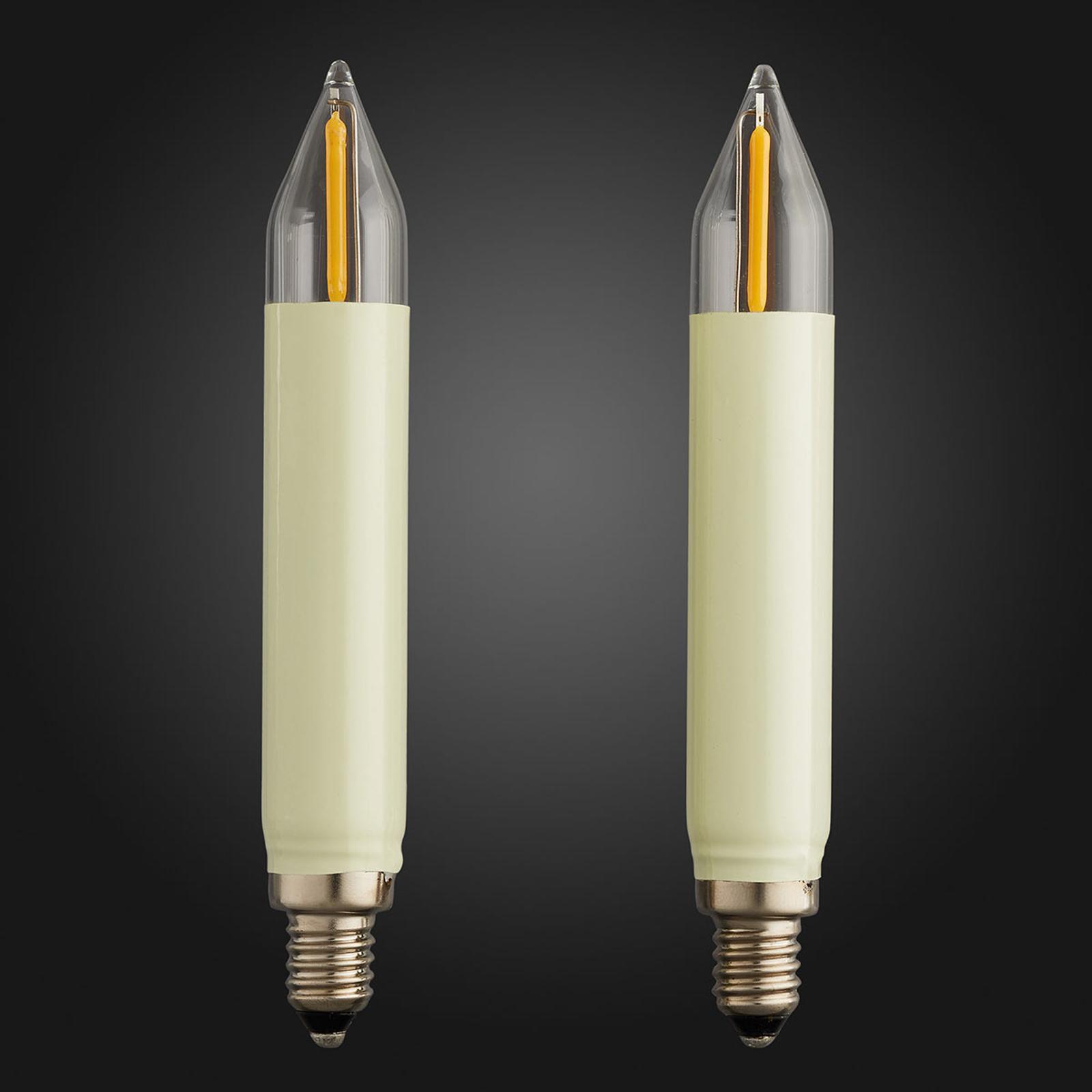 E10 0,5W 8V lampadina a candela LED conf. da 2