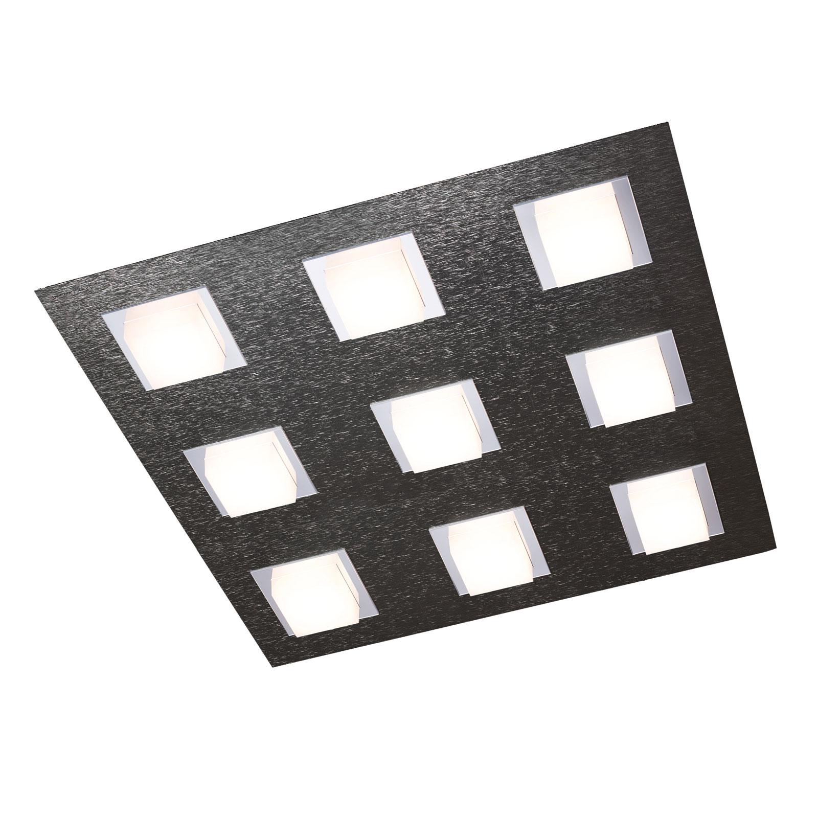 GROSSMANN Basic taklampe, 9 lyskilder, antrasitt