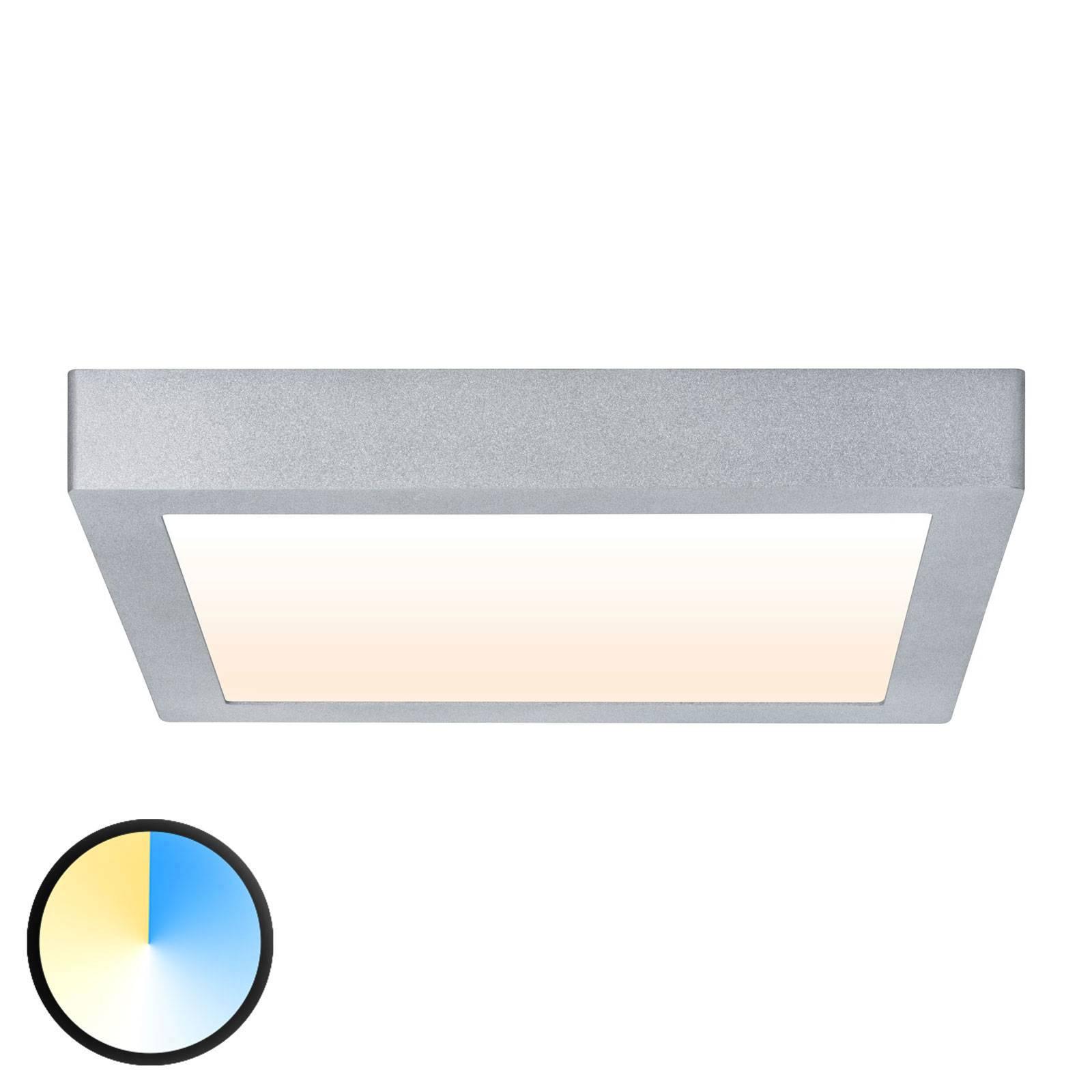 Paulmann Carpo LED plafondlamp chroom 30x30cm