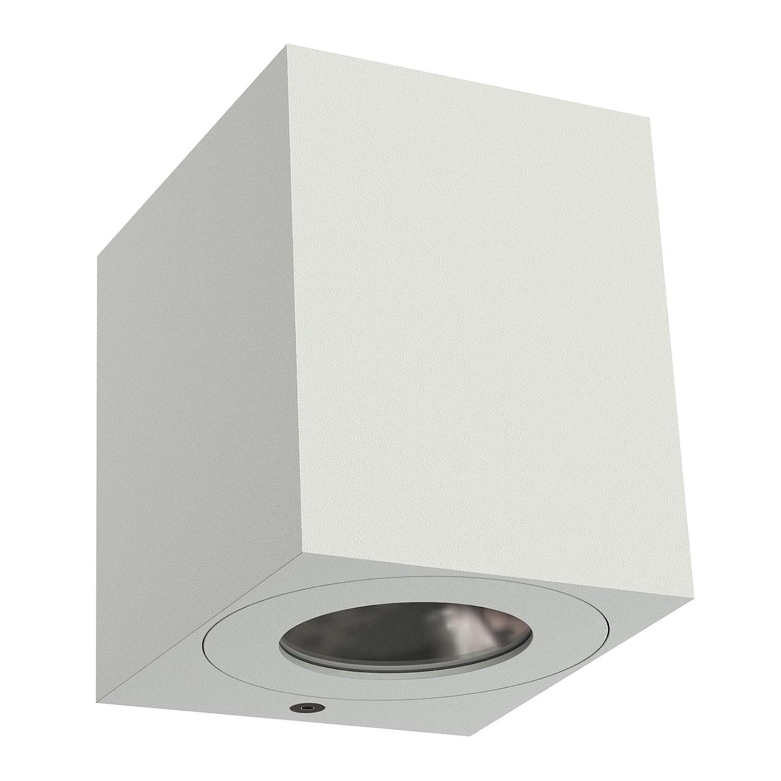 Applique d'ext. LED Canto Kubi 2, 10cm, blanche