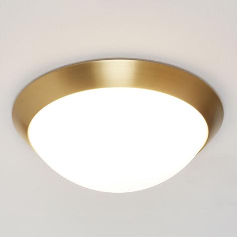 Loftlampe Katrin i messinglook, IP44
