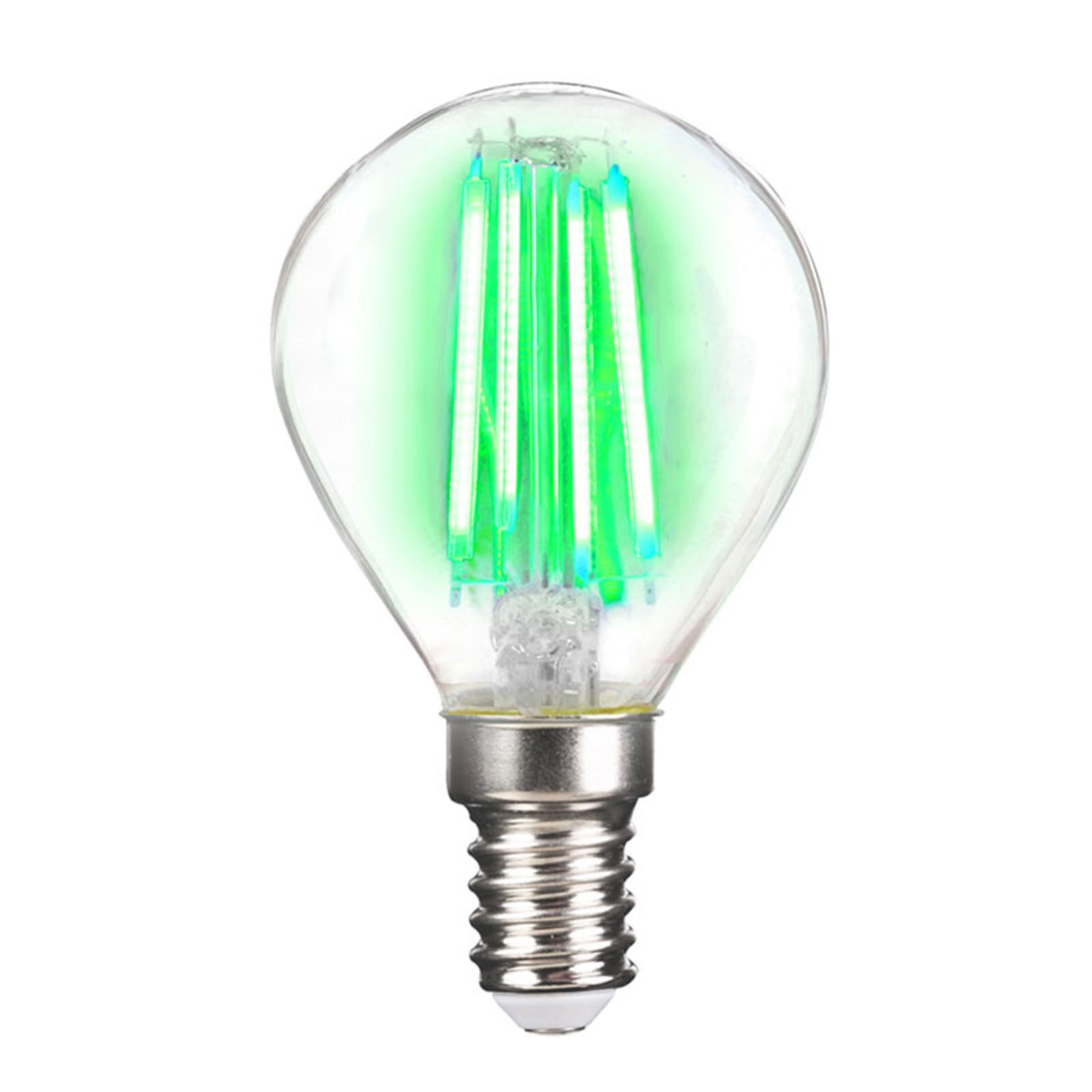 LED-Lampe E14 4W Filament, grün