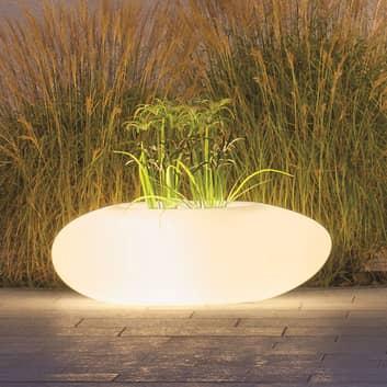 Dekolampe Storus III LED RGB+CCT bepflanzbar weiß