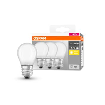 OSRAM LED dråbe E27 P40 4 W 2.700 K 470 lm mat 3