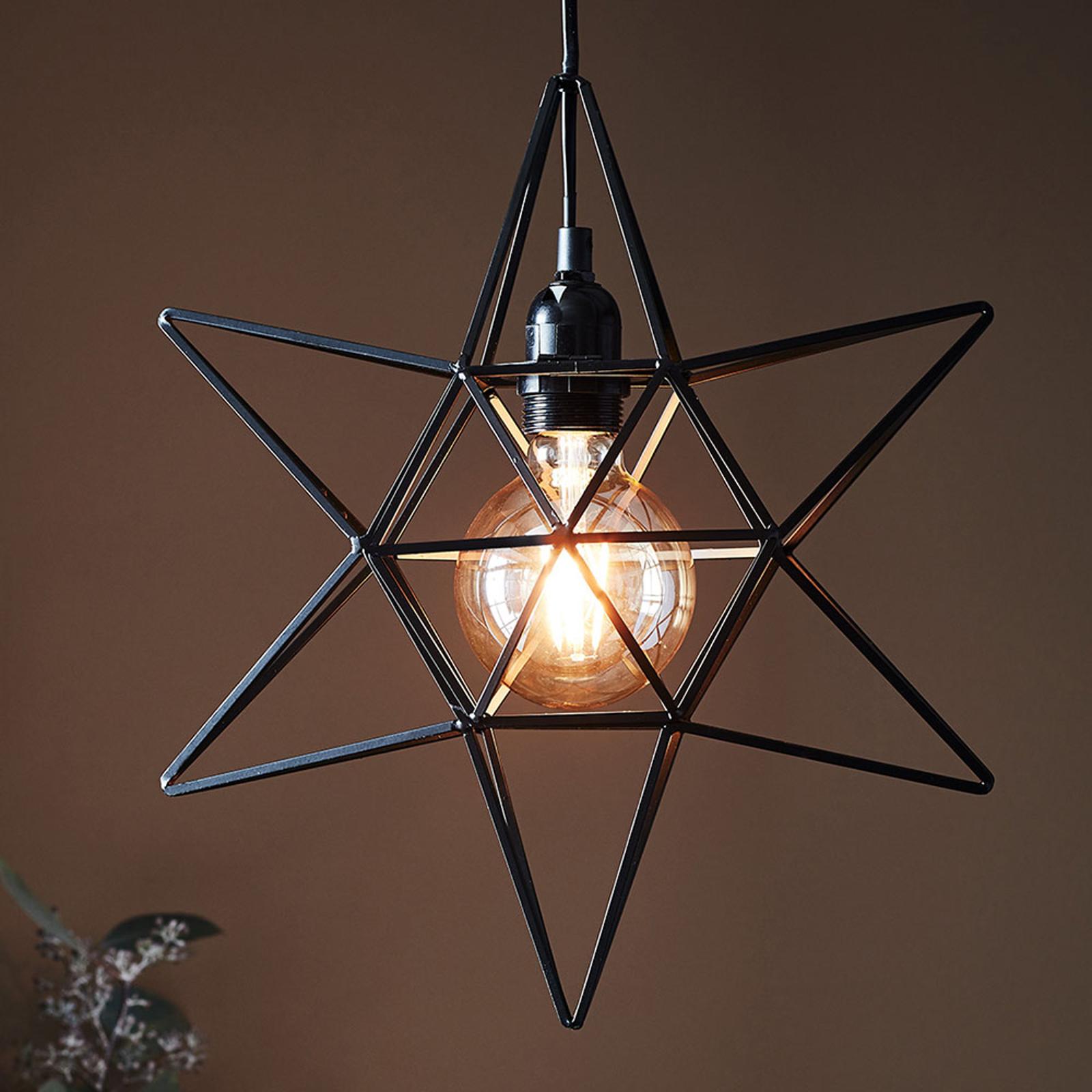 Gwiazda dContour jako wisząca lampa, czarna