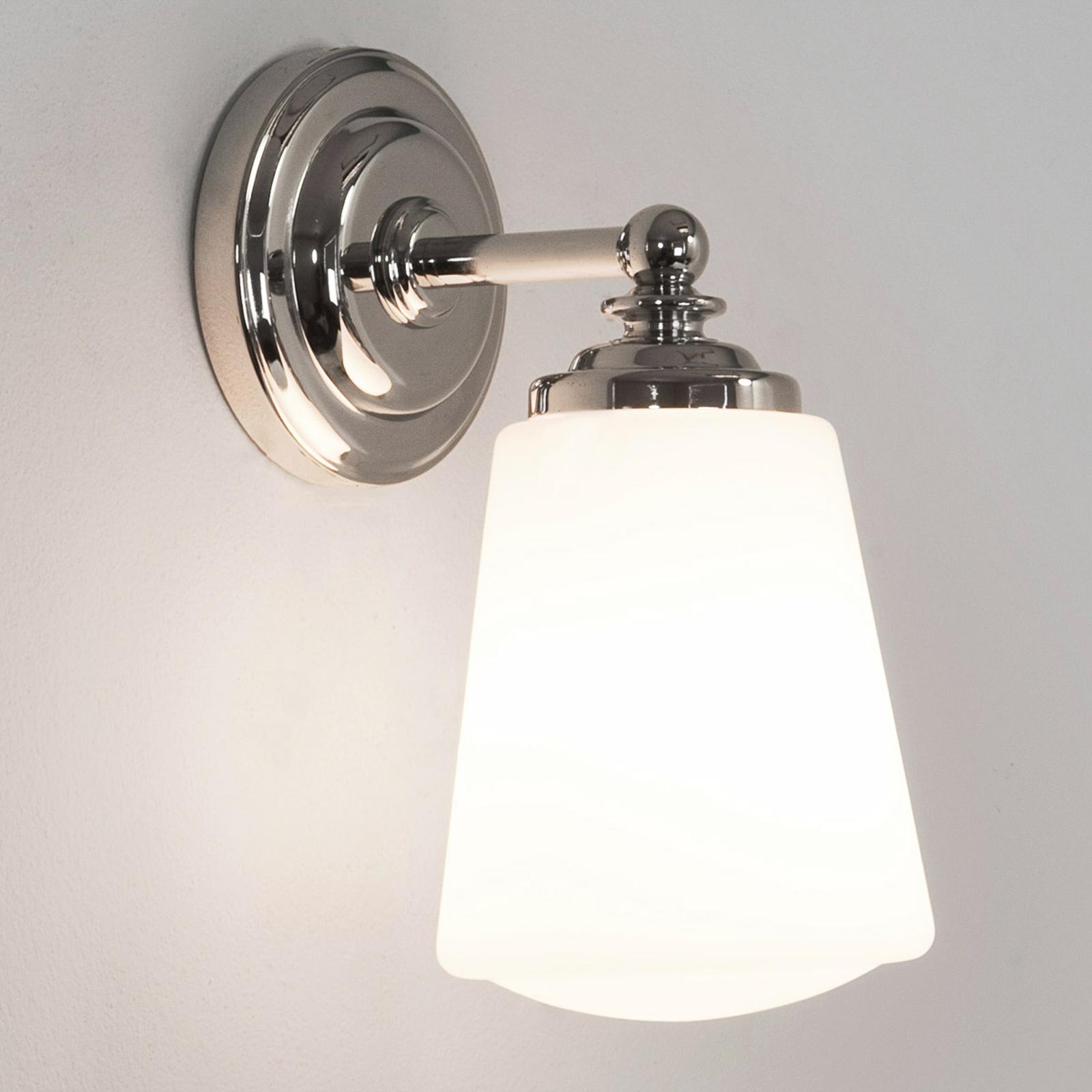 Wandleuchte Amrei Zeitlos Silber Nickel Matt Dimmer Lampenwelt Wandlampe Flur