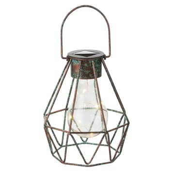 LED-solarlampa Cage som kan hängas och ställas