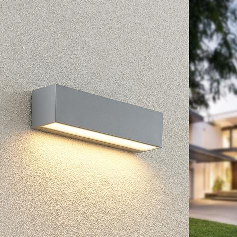Lucande Lengo LED-vegglampe, down sølv 25cm