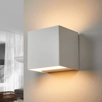 LED-vägglampa Kimberley, 9x9cm, vit