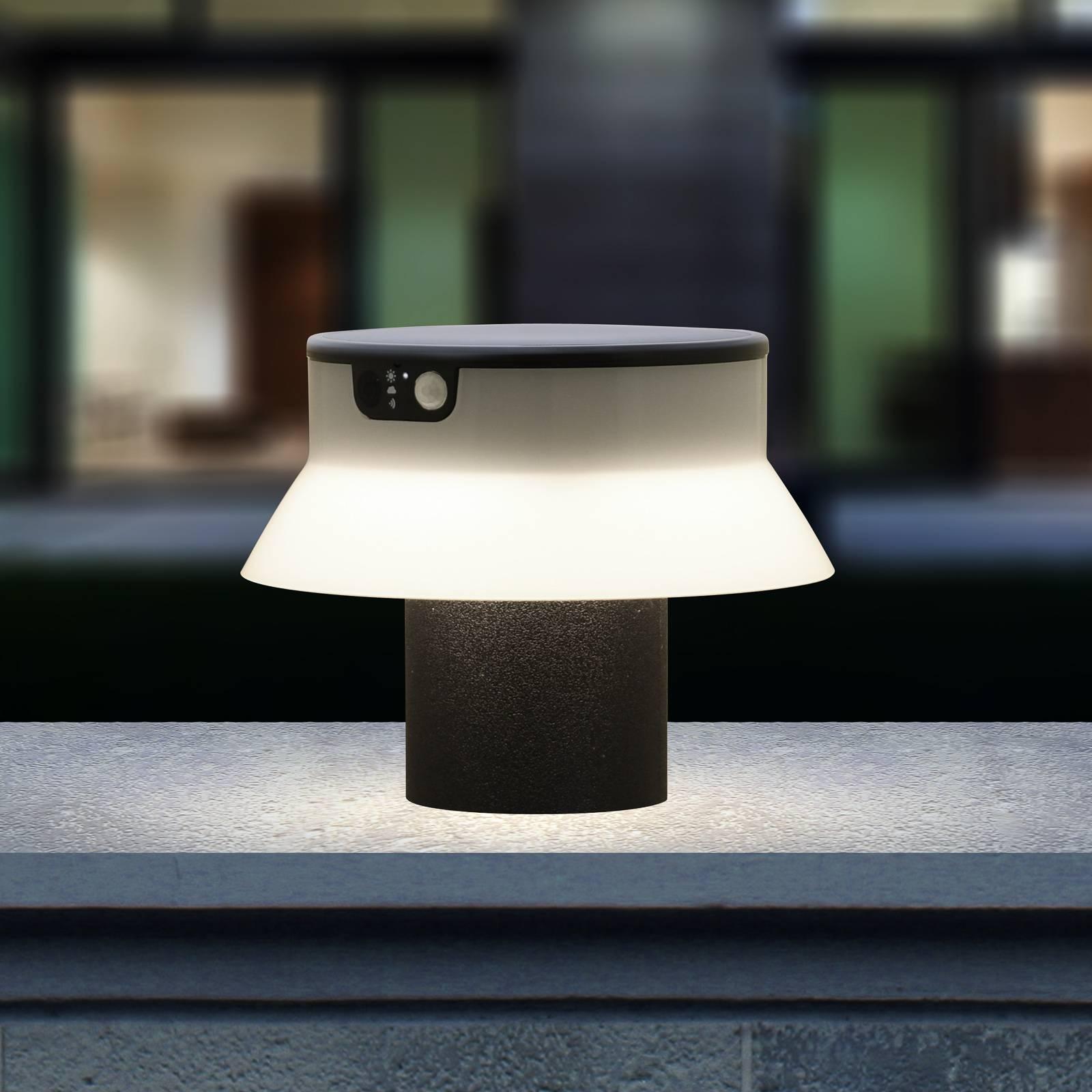 LED-Solarleuchte Felice schwarz CCT Höhe 18 cm