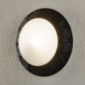 Vegglampe Rita E27 svart opal