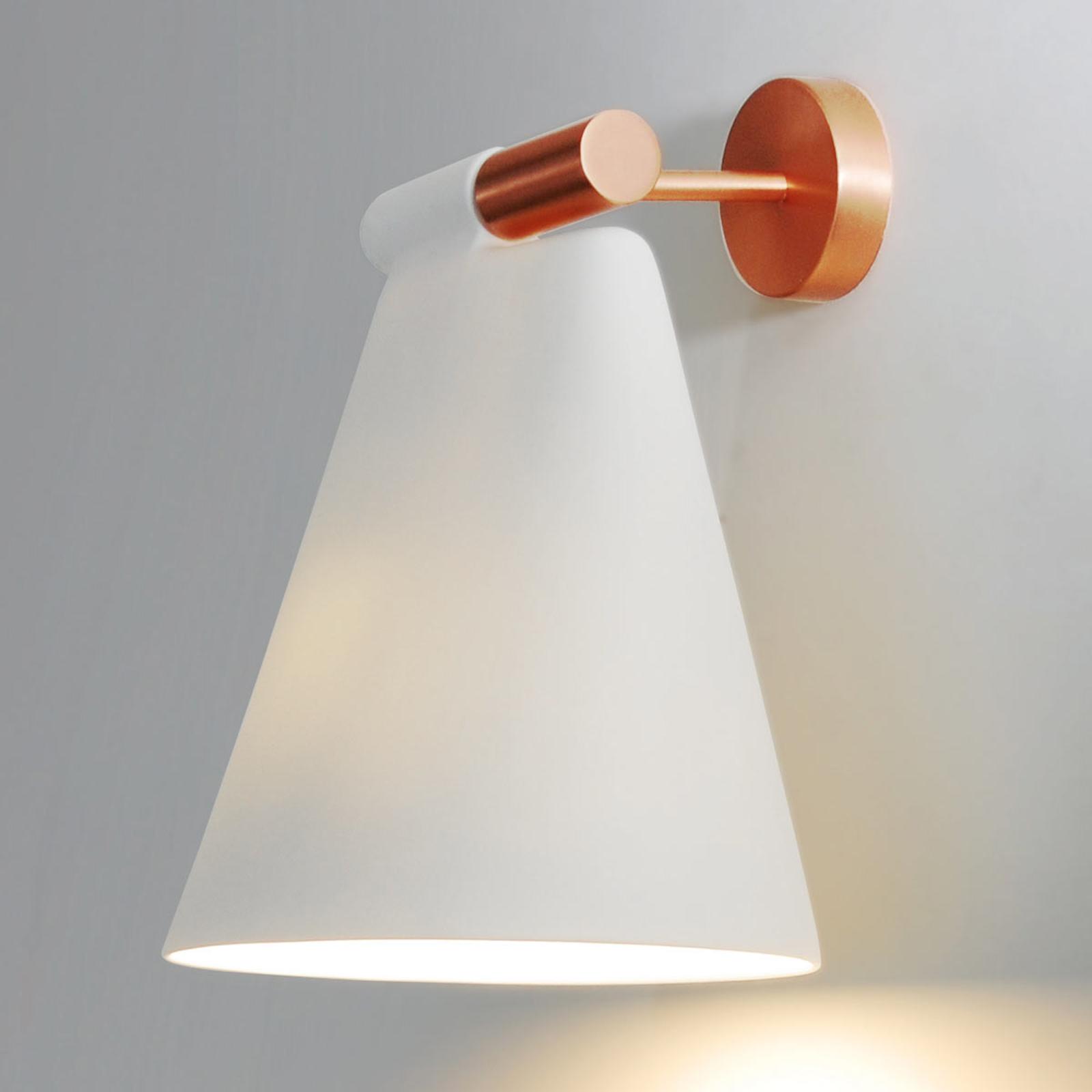 Cone Light W, lampa ścienna z ceramiki