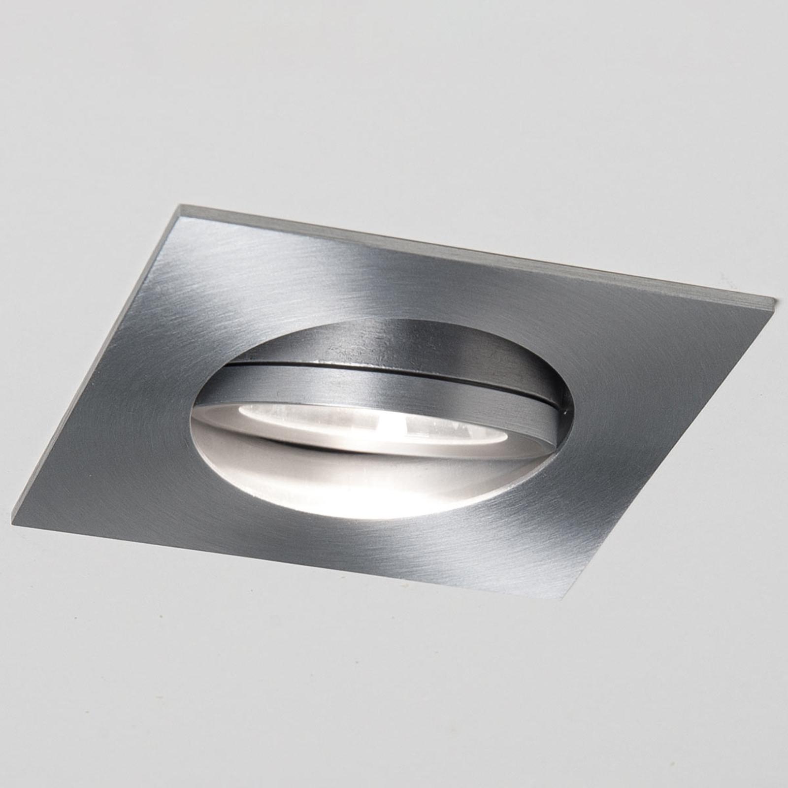 LED-Einbaustrahler Agon Square Alu 3.000K 40°