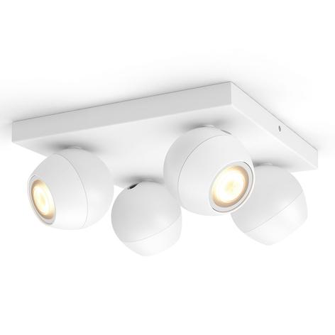 Philips Hue Buckram 4-lamppuinen, valkoinen