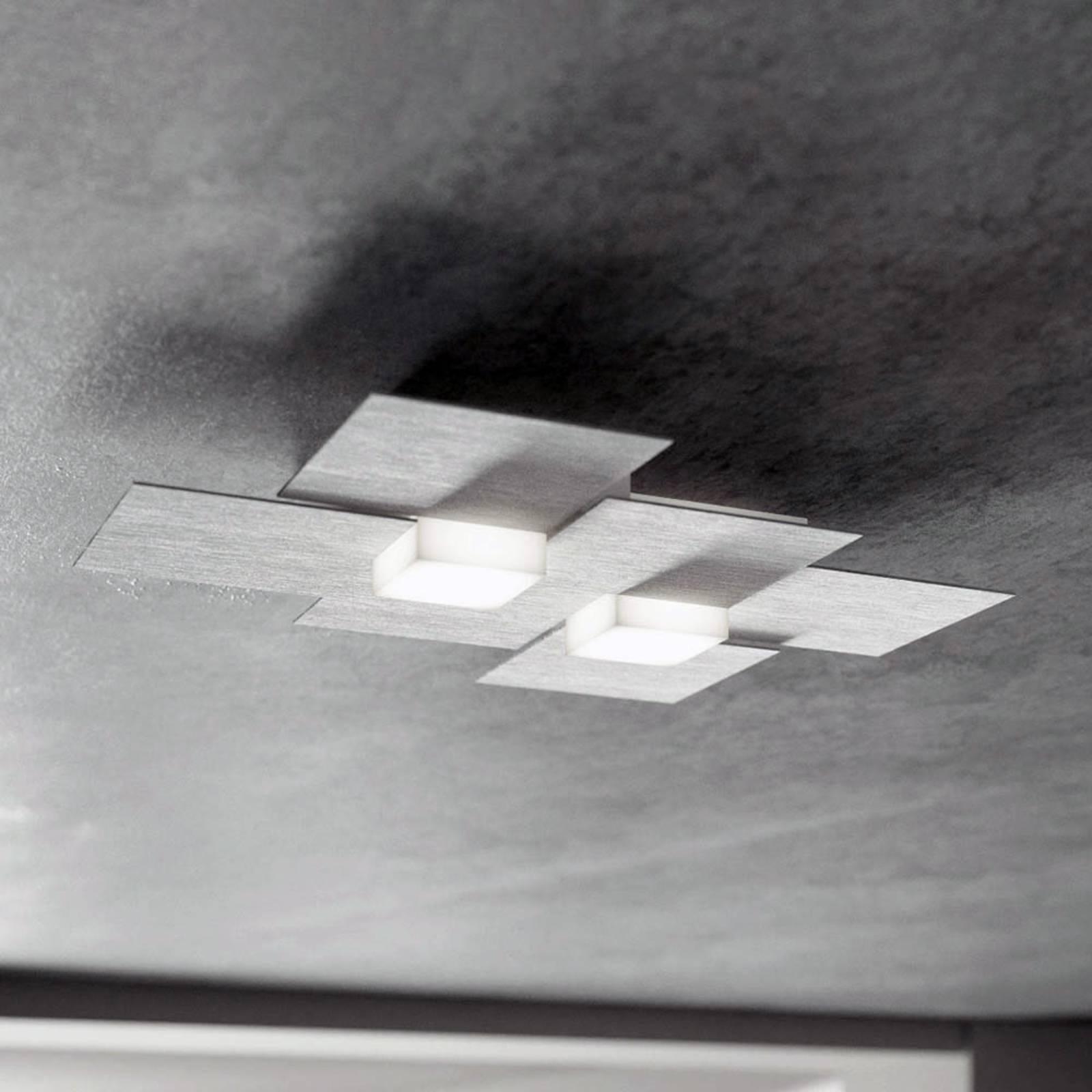 GROSSMANN Creo LED-Deckenleuchte 2fl. alu gebürst.