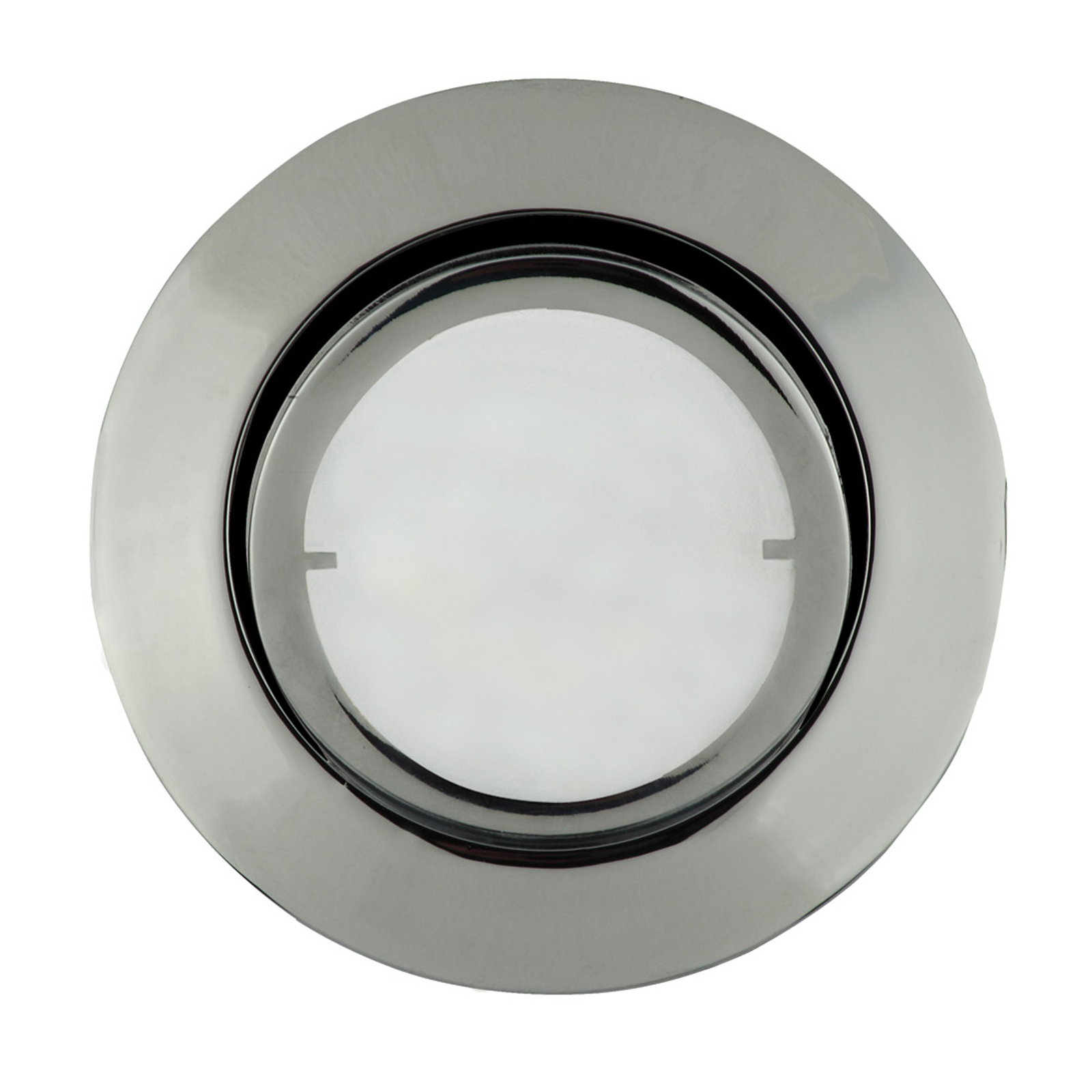 Ronde LED inbouwlamp Joanie, chroom