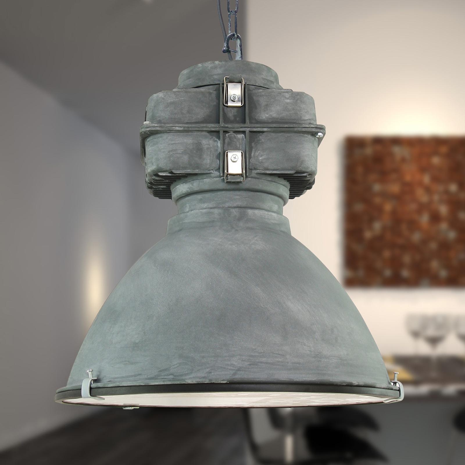Anouk - Vintage-hengelampe med glassdiffusor