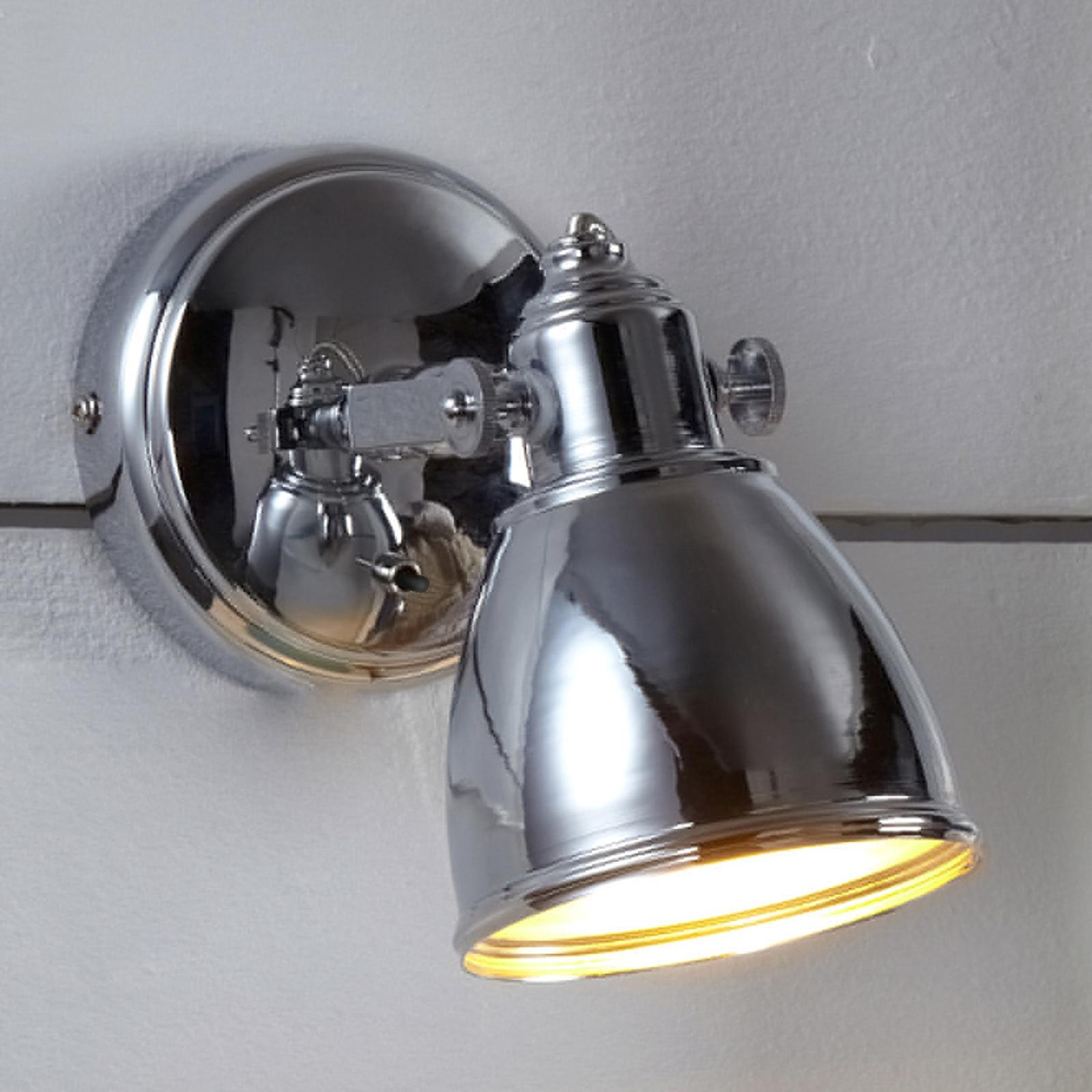 Eenvoudige wandlamp FJALLBACKA in chroom
