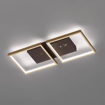 LED plafondlamp Pix, bruin, 2-lamps 54x25cm