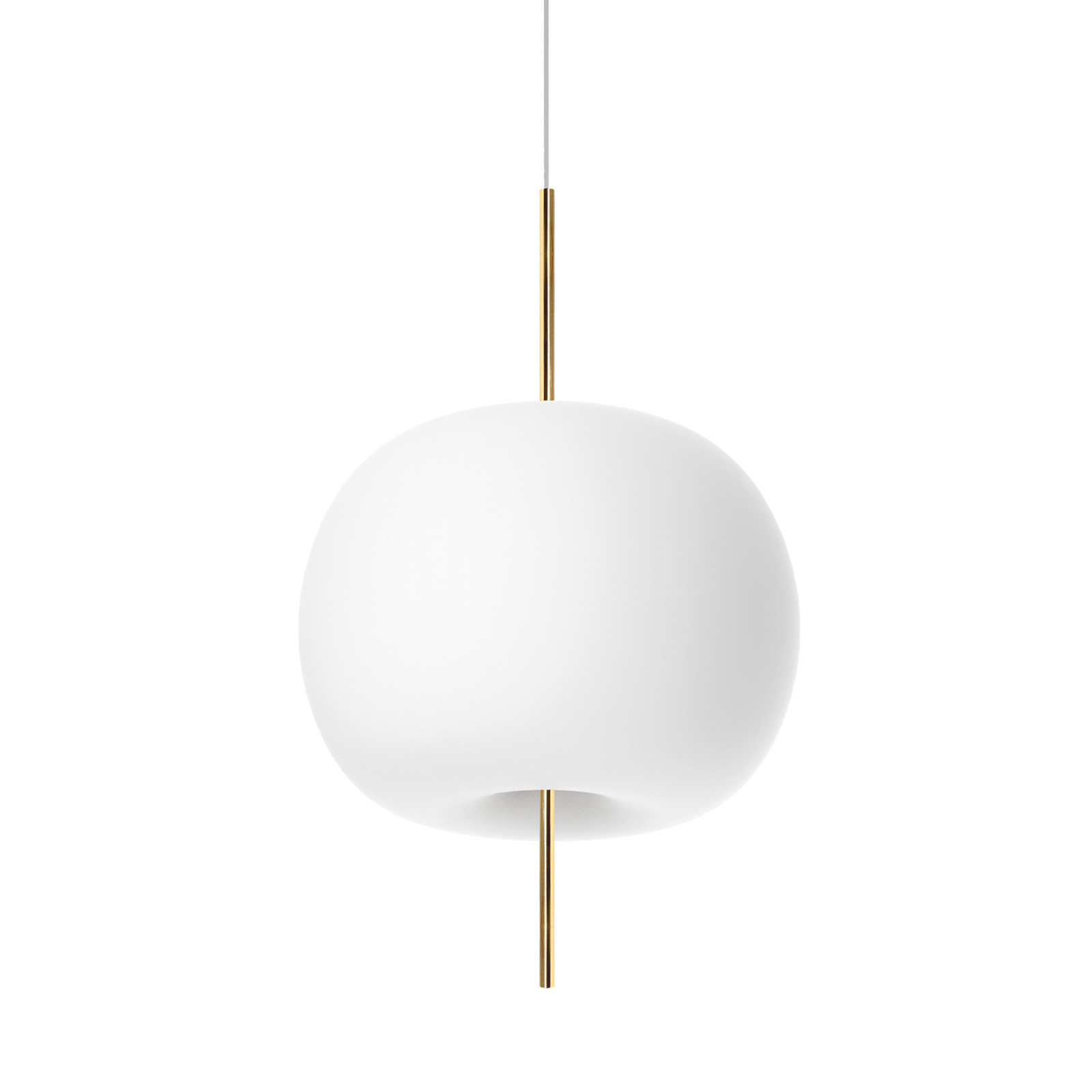 Kundalini Kushi lampa wisząca Ø 33cm mosiądz/biała