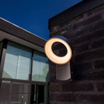 Meridian udendørs LED-væglampe, rundt hoved